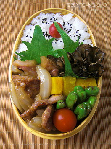 醤油麹の豚生姜焼き弁当04