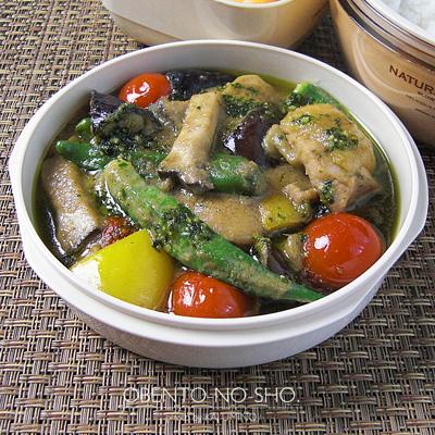 夏野菜のグリーンカレー弁当02