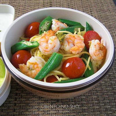 夏野菜と海老の柚子胡椒パスタ弁当02