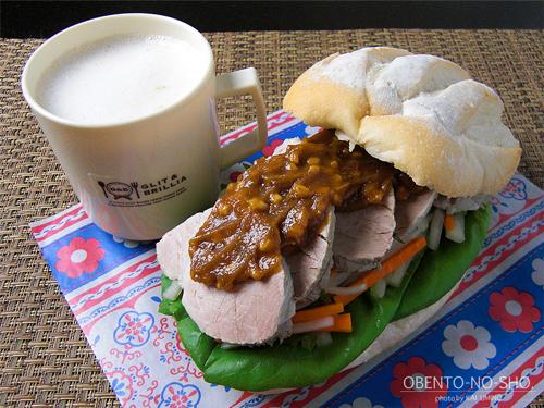 茹で豚サンド弁当01