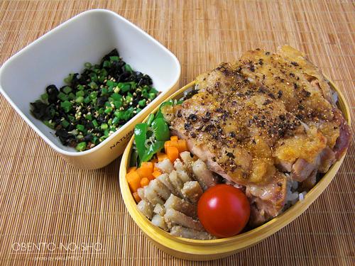鶏塩焼きステーキ弁当01