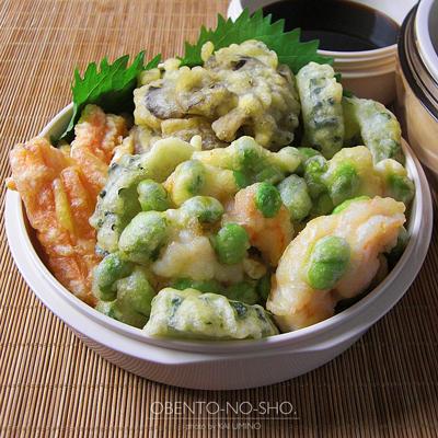 枝豆と海老のかき揚げおろし蕎麦弁当03