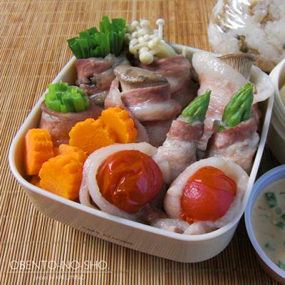 野菜の豚肉巻き蒸し弁当03