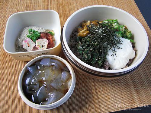 十六穀米のネバネバ丼弁当01