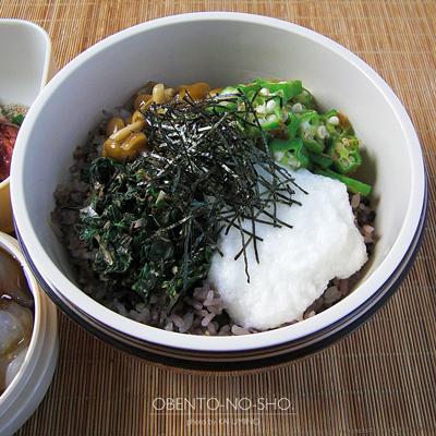 十六穀米のネバネバ丼弁当02
