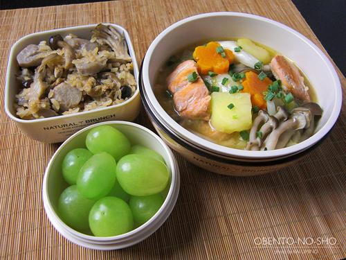 秋鮭のちゃんちゃん汁弁当01