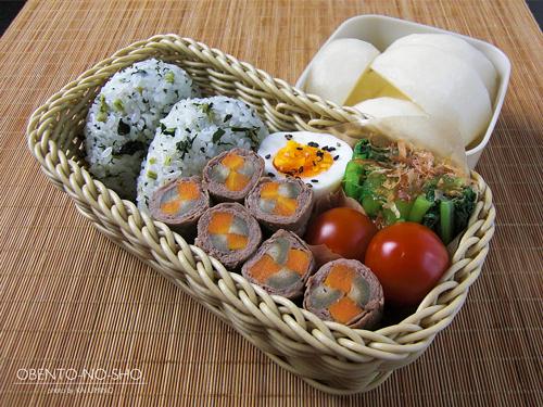 根菜の牛肉巻き弁当01