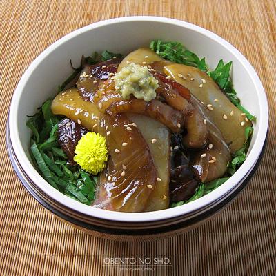 4種盛りの漬け丼弁当04