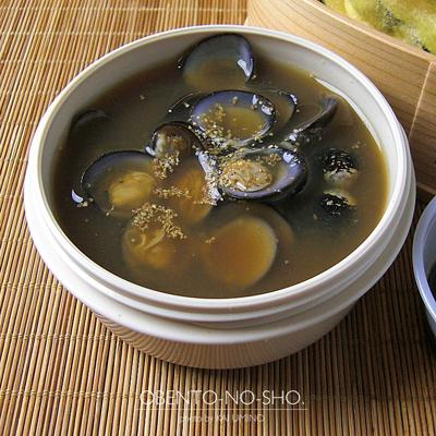 秋のかき揚げ丼としじみ汁弁当02