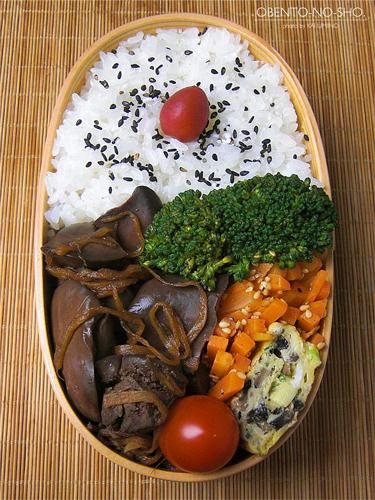 鶏レバーの生姜煮弁当04