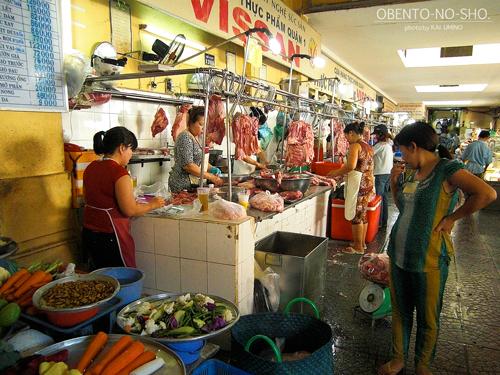 ベンタイン市場_肉売り場