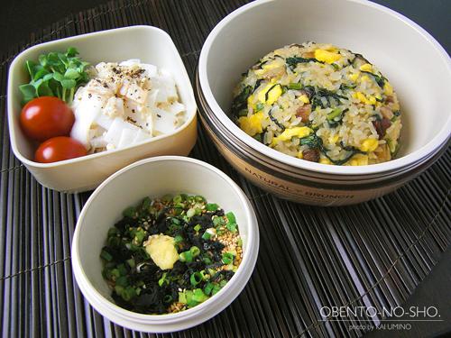 叉焼と小松菜の炒飯弁当01