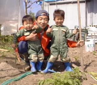 子供と農作業