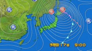 2014年12月17日予想天気図