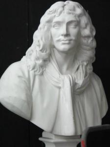 モリエールの肖像彫刻1