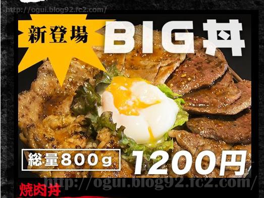 秋葉原焼肉丼たどんのBIG丼001