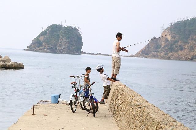 魚釣り親子 - コピー