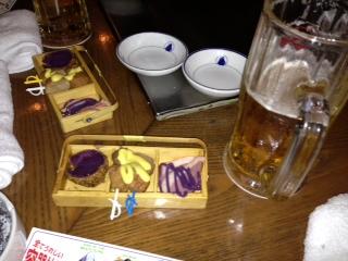 ステーキハウスにて前菜  沖縄