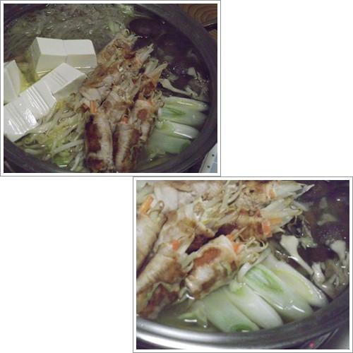 20131231豚肉巻鍋