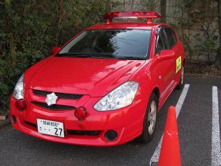 消防本部 広報5号車 トヨタ カルディナ(CBA-ZZT241W)
