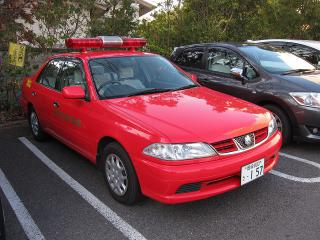 消防本部 広報8号車 トヨタ カリーナ(GF-AT211)