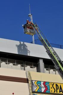 中高層建築物火災防御訓練