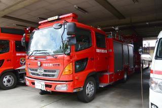 化学消防ポンプ自動車 中化学車 日野BDG-GX7JGWA改 艤装:日本ドライ