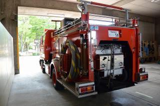 消防ポンプ自動車 中2号車 三菱KK-FK61HE 艤装:日本ドライ