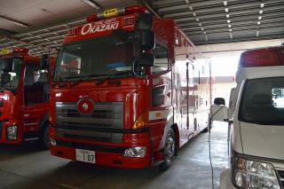 支援車 日野BDG-FQ1EWYG 艤装:日本機械工業