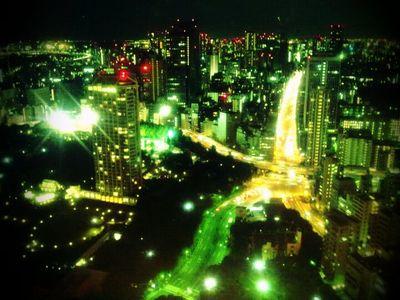 タワー展望台夜