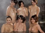 【無修正】AV女優6人が温泉で酒池肉林の大乱交中出し打ち上げ♪