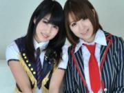 【無修正】W姦 椎名ひかる・西園寺れお★新人アイドル2人組の中出し接待♪