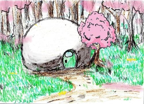 カックレー・森の家外観(春)