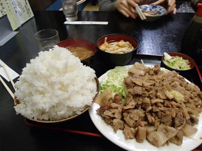 生姜焼き&ごはん (2)