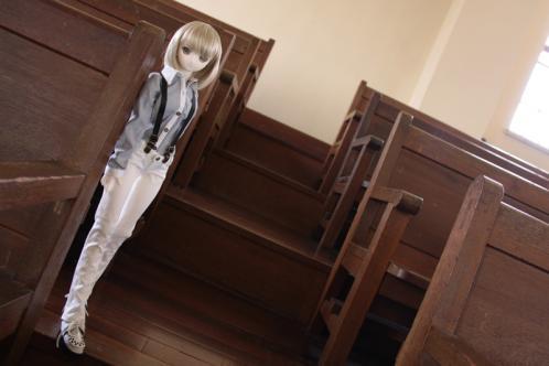 階段にて4