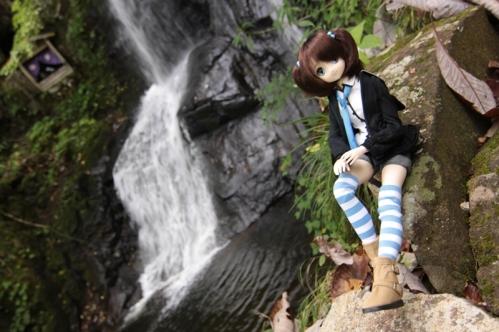 上段滝にて
