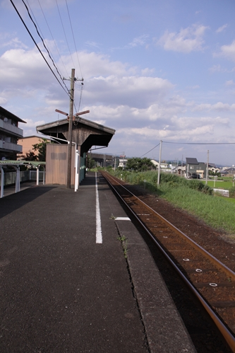 岩水寺駅ホーム掛川方面