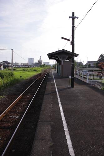 岩水寺駅ホーム新所原方面