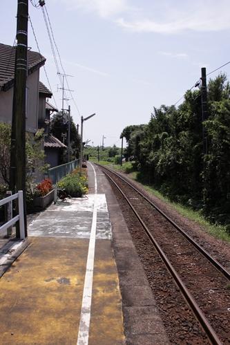 上野部駅ホーム掛川方面
