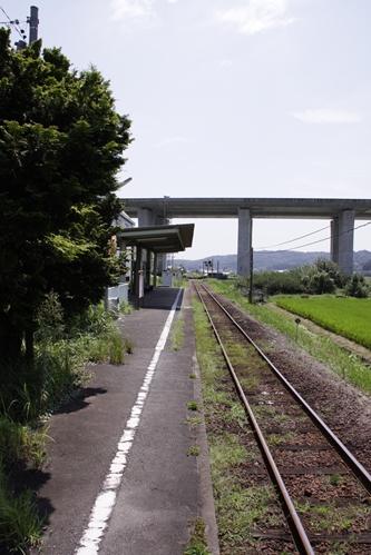敷地駅ホーム掛川方面