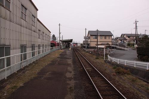 西鹿島駅ホーム新所原方面