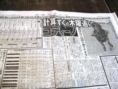 弥生賞の新聞