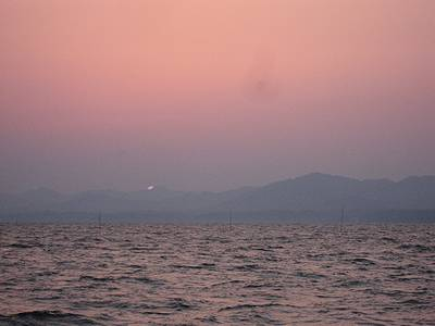 宍道湖の夕日5