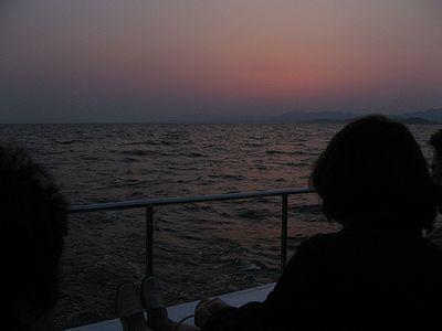 日没直後の宍道湖