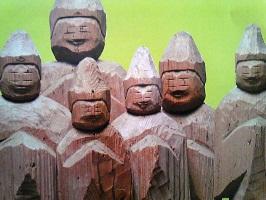 三十三観音立像の一部