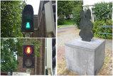 信号機&銅像