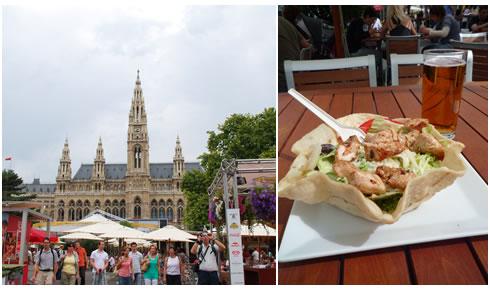 市庁舎&サラダ