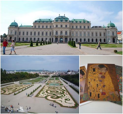 ベルヴェデーレ宮殿&接吻のポストカード