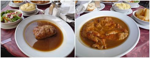 ウィーン風ハンバーグ&パン粉がついてないシュニッツェル