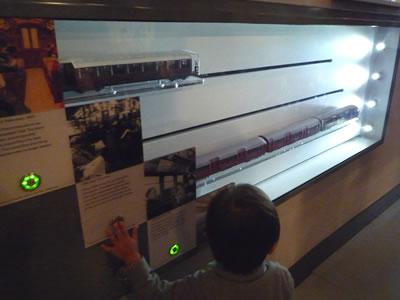 電車の展示物